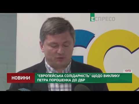 Європейська солідарність щодо виклику Петра Порошенка до ДБР