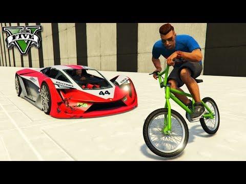 GTA V Online: BMX vs SUPER CARROS - PEGA LADRÃO!!!