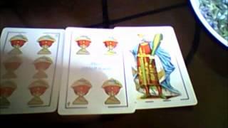 Curso Baraja Española. Parte 7. Combinaciones con 3 cartas. Tarot 7 Vidas