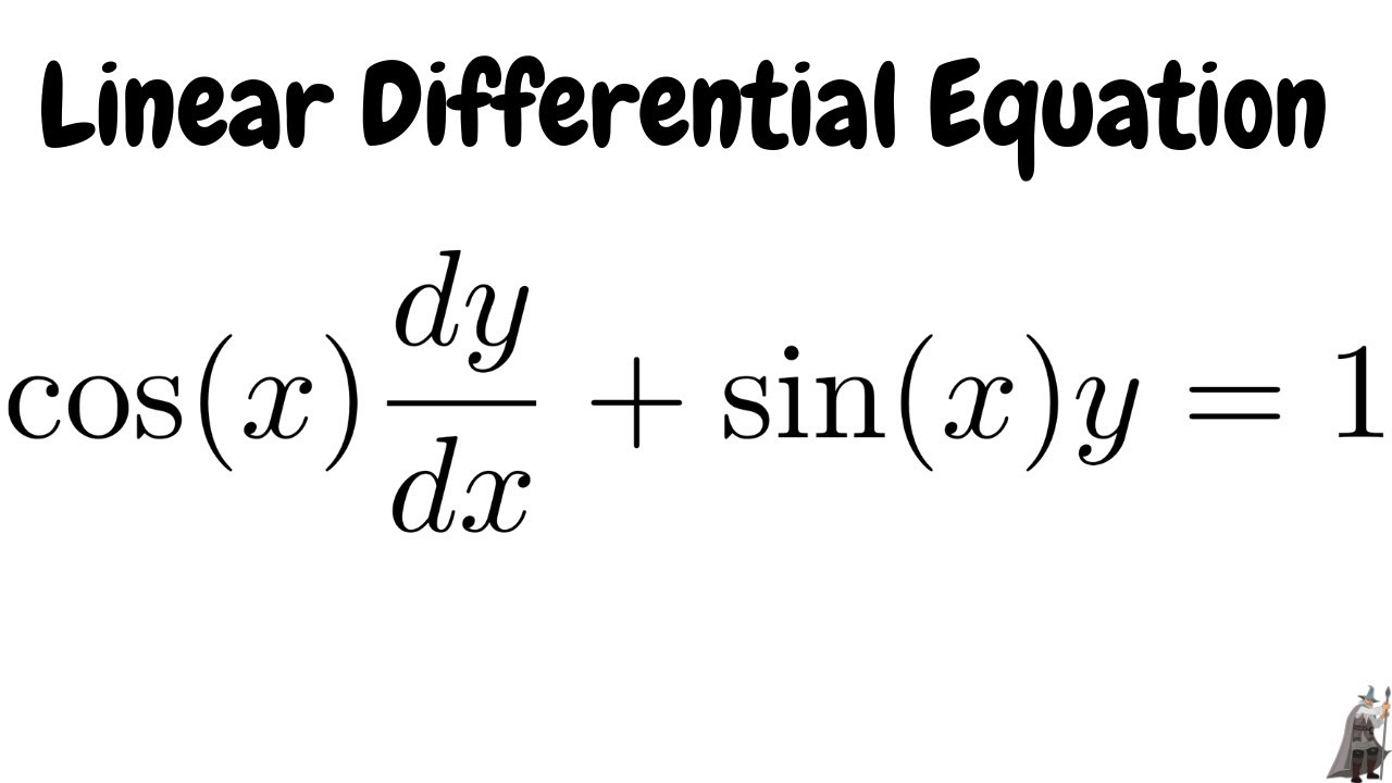 Linear Differential Equation cos(x)dy/dx + sin(x)y = 1 - YouTube