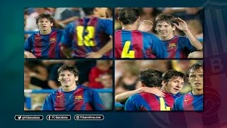 Although leo messi's first goal for fc barcelona is traditionally said to be the one against albacete on 1 may 2005, it could argued that his was ac...