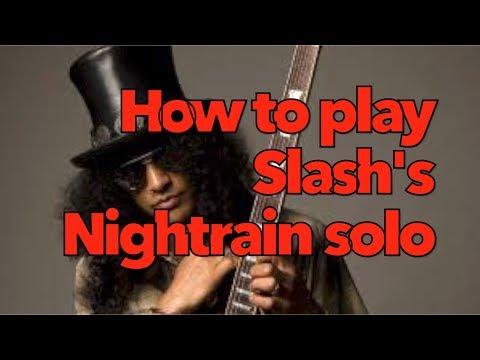 Guns N' Roses Nightrain solo lesson (Slash solo) | Weekend Wankshop 215