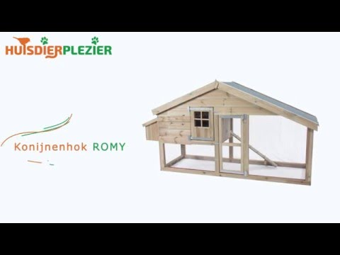 Huisdierplezier.nl | Konijnenhok Romy | Konijenhok bouwen