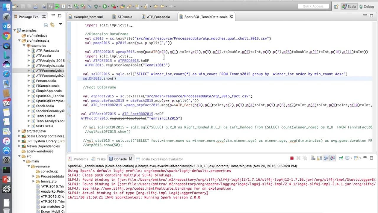 Apache SparkSQL setup, configuration & example SQL queries on Eclipse IDE -  Tutorial