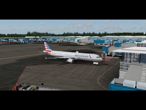 Prepar3D / American Airlines A321/ Nassau to St. Maarten / Start