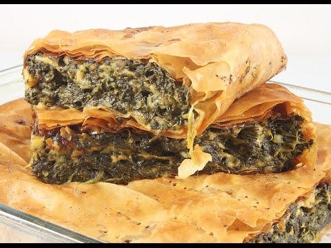 Слоёный Пирог со Шпинатом и Сыром. Spanakopita.