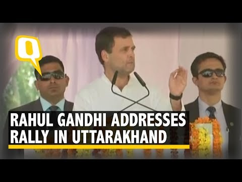Rahul Gandhi Addresses a Rally in Dehradun, Uttarakhand