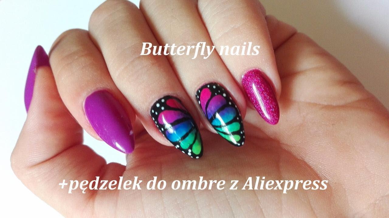Butterfly Nails Pedzelek Do Ombre Z Aliexpress Semilac Cnd Z