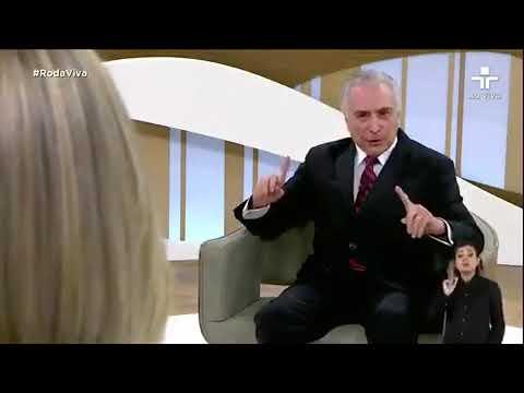 Temer admite 'golpe' durante entrevista ao programa Roda Viva