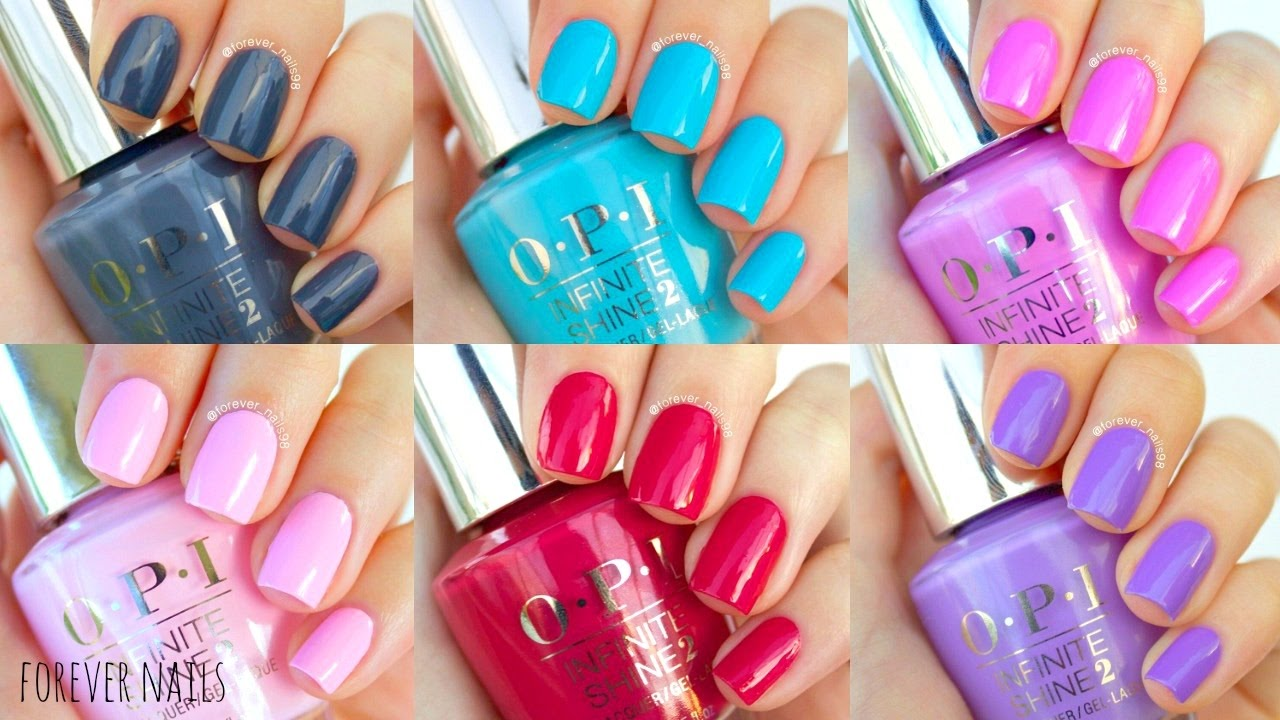Opi Infinite Shine Swatches Amp Review Youtube
