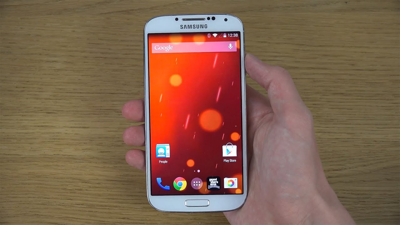 Samsung galaxy s4 android 444 kitkat review 4k youtube voltagebd Choice Image