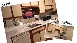 DIY| Faux Mirror Tile Backsplash|Kitchen Makeover ft Banggoods.com