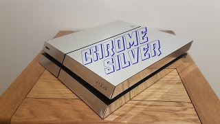 Wrapping PS4 Chrome Silver!!!!