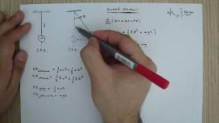 Mühendislik - Mekanik Titreşim - Sarkaç Modeli Hareket Denklemi ve Doğal Frekansı - Enerji Yöntemi