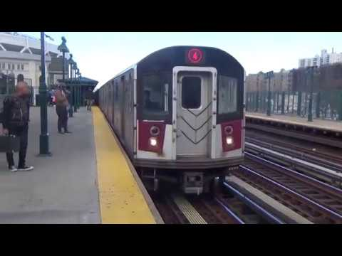 IRT Manhattan & Woodlawn Bound R142A & R142 (4) train @ 161 St Yankee Stadium