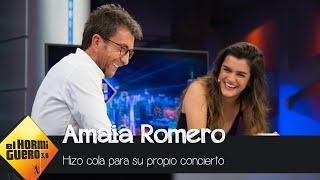 Amaia tuvo que hacer cola para su propio concierto - El Hormiguero 3.0