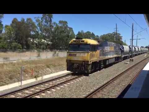 Blue Metal Train At Villawood