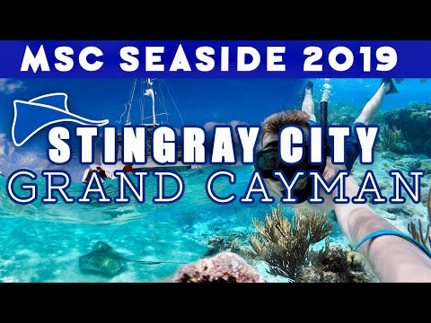 STINGRAY CITY & THE BARRIER REEF, GRAND CAYMAN!! | MSC Seaside 2019! | Ep  12