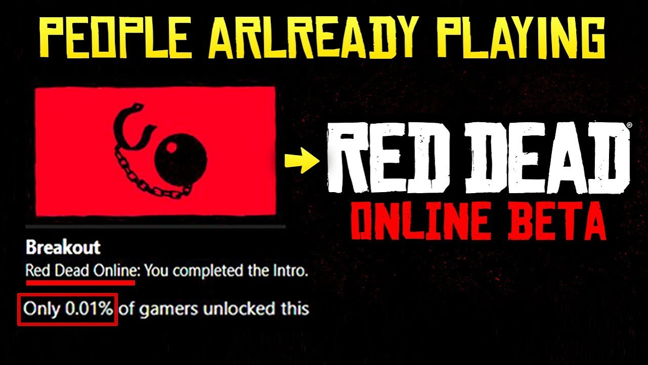 Red Dead Online - People Already Playing the Intro! Release Date Soon?!