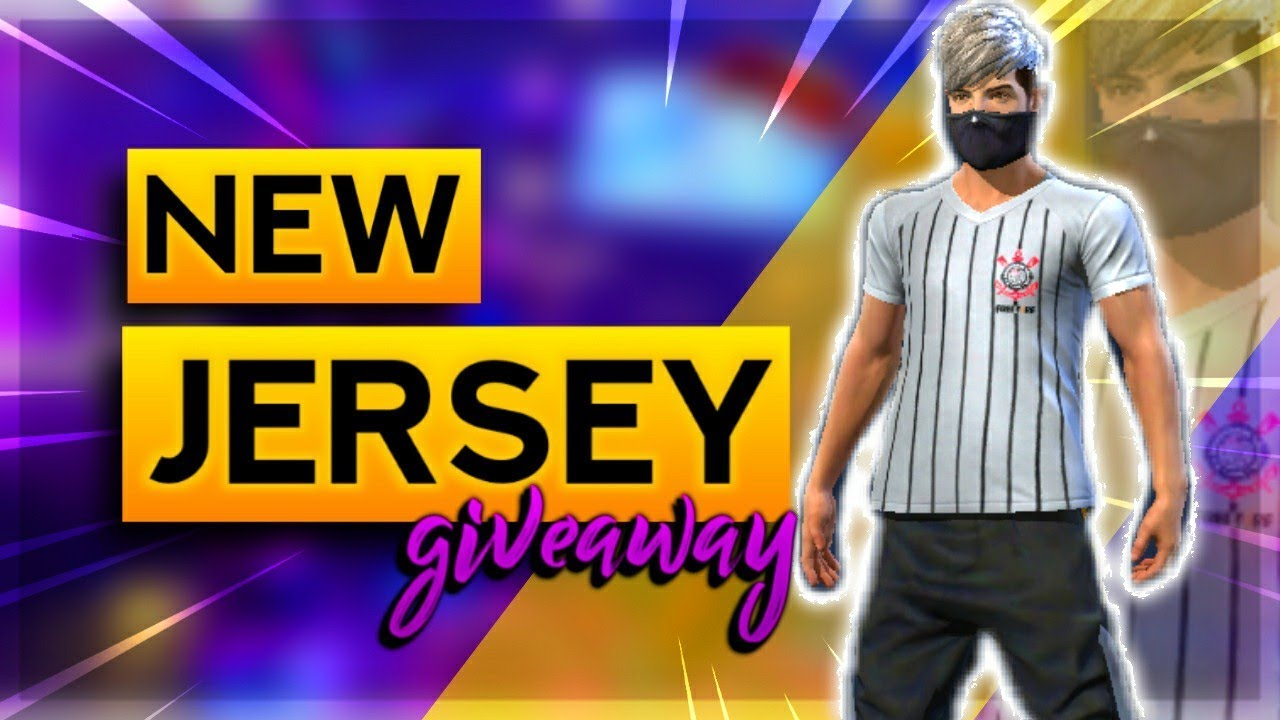 Free Fire Live New Jersey Giveaway And Mast Gameplay AO VIVO