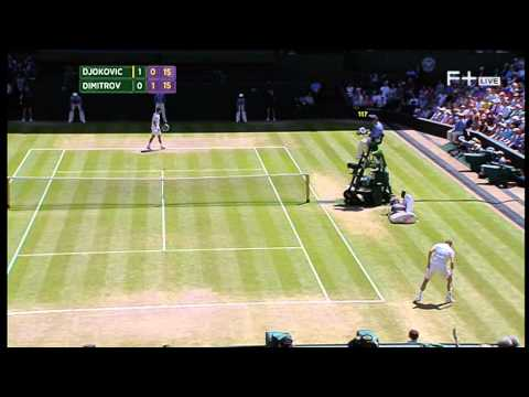 Grigor Dimitrov vs Novak Djokovic Wimbledon 2014 semi-final Part 1