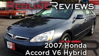 2007 Honda Accord V6 Hybrid Review, Walkaround, Exhaust, Test Drive
