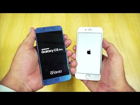 iPhone 6s vs Galaxy C5 Pro Speed Test [Urdu/Hindi]