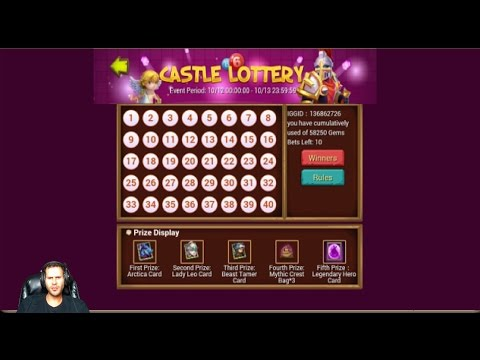 New Event Castle Lottery Pick 10 Numbers Get Lucky Win Arctica Castle Clash