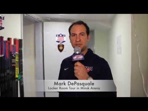 Tour Of  Team U.S.A. Hockey Locker Room - 2014 IIHF Men's World Championship