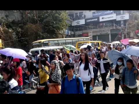 Students Rally against State Govt. Policy of Stipend