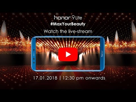 Get ready to be Captivated with Honor 9 Lite