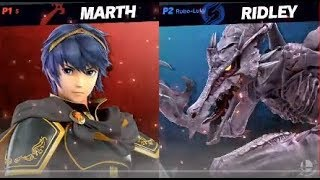 Ridley (vs.) Marth Grand Finals Gameplay - Smash Ultimate