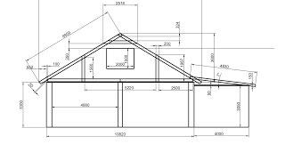 видео Проекты мансардных крыш: чертежи схемы стропильной системы мансарды