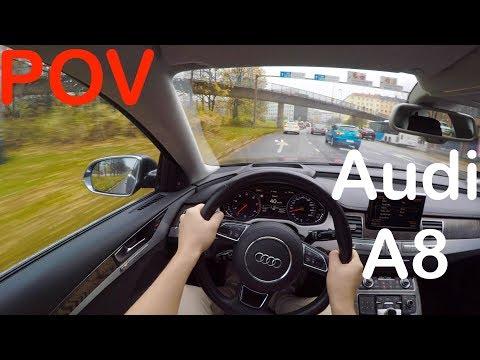 POV Audi A8 L W12 500HP Autumn Rainy Drive + Quick Review - PointOfViewCars