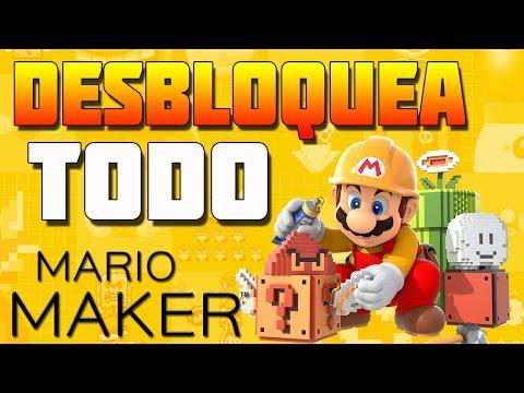 Super Mario Maker - DESBLOQUEA TODO EN 1 DÍA !!