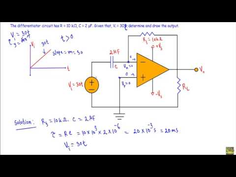 Op-Amp Differentiator : Circuit Example - YouTube