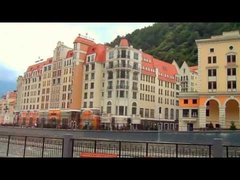 Сочи, Красная Поляна, курорт Роза Хутор, 2013г. HD (1 часть)