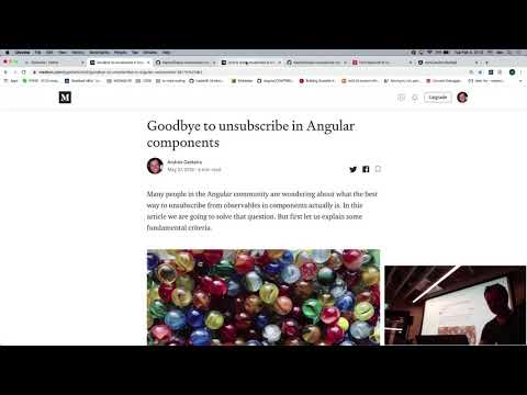Thumbnail for 20200204 - Angular Berlin - Unsubscribe in Angular components: from takeUntil to Ivy Andrés Gesteira