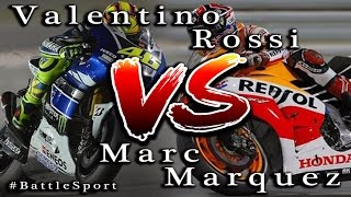 Valentino Rossi vs Marc Marquez Video Battle Moto GP - #BattleSport