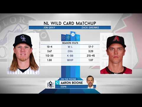ESPN MLB Analyst Aaron Boone on Rockies-D'Backs Wild Card Preview - 10/3/17