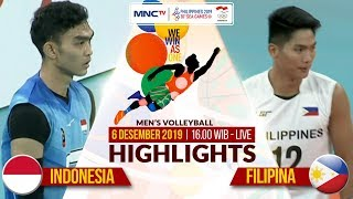 INDONESIA VS FILIPINA (3-0) | Highlights Men's Volleyball | SEA GAMES 2019