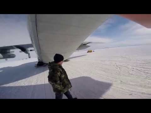 Exploring an LC-130 Hercules at Williams Field, Antarctica