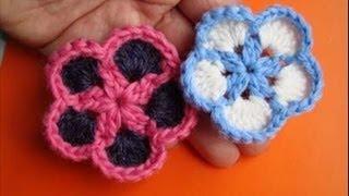 Вязаные крючком цветы Урок 4 Crochet flower pattern