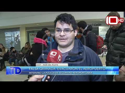 Falsa Granada: Evacuaron el Aeropuerto Ástor Piazzolla