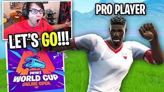 I put on a SOCCER SKIN and became a PRO PLAYER... (Fortnite WORLD CUP Practice)