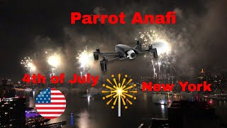 Parrot ANAFI - FIREWORKS 4th of JULY vs iPhone