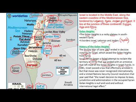 Mapping Of Israel | Strategic Location | Gaza Strip,West Bank