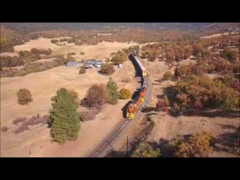 Drone chase: Southern Pacific Siskiyou Pass of CORP 10/16/2017