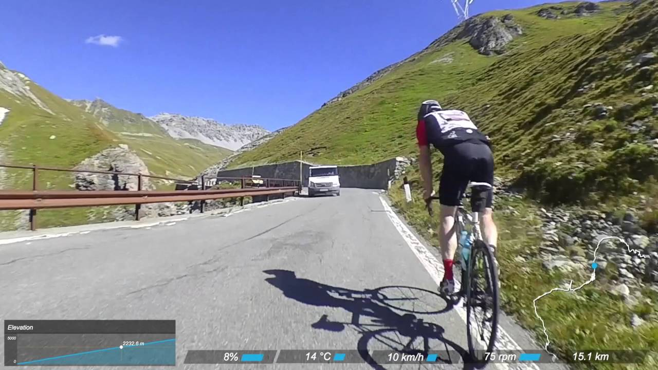 Road bike climbs Stelvio Pass Italy from Bormio Haute Route