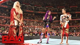 charlotte flair tries to drive a wedge between bayley and sasha banks raw march 27 2017